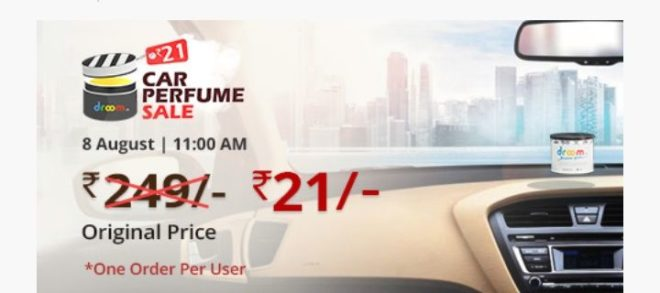 Droom Offer - Get Car Perfume Sale @21 Only