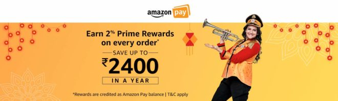 Amazon - Get 2% Cashback Upto Rs.2400 on Every Oder