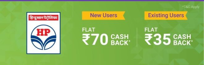 Phonepe App - Flat Rs.70 Cashback on First Txn. + Flat ₹35 Cashback on All Next Transactions at HPCL