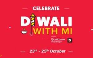 Diwali With Mi - Rs.1 Flash Sale, Mi Huge Discount, Rs.2,000 Off on Phones Sale (23-25th October)