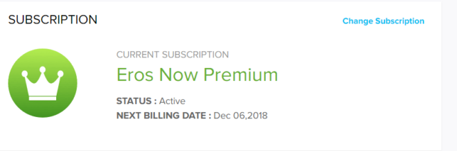 ErosNow Diwali Offer - Get Free Erosnow Premium Subscription For One Month