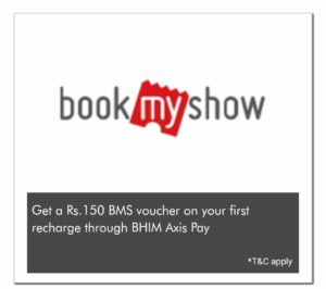 Bhim Axis Pay - Get Rs.150 BMS Voucher on Your First Recharge Through BHIM Axis Pay