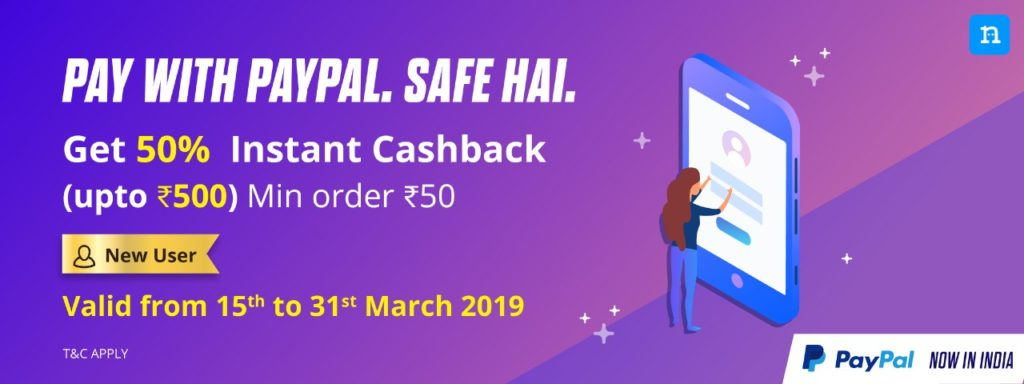 Niki App - Get 50% Cashback Upto Rs.500 On Niki Using Paypal (New Users)
