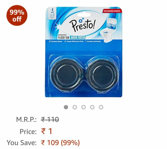 (Today Added) Amazon Pantry Deal - Rs.1 Deals Grab Now