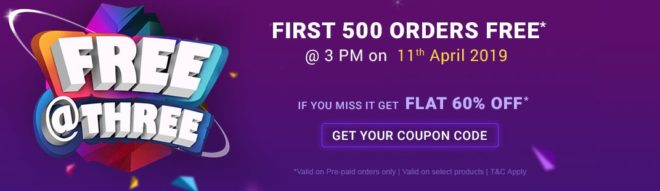 Firstcry Offer - First 500 Order Free @3PM, 11th April 2019